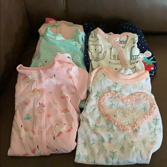 Wonder Nation Infant Baby Girl 2 Pc Pajama Set Unicorn 18 /& 24 Months NWT FAST